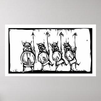 Line of Vikings Poster