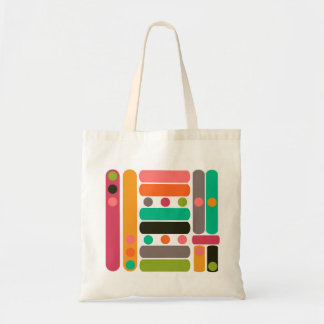 Line Pattern Budget Tote Bag