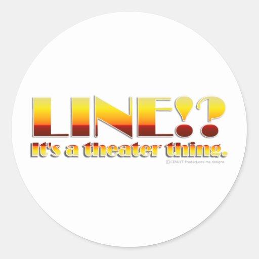 Line!? (Text Only) Round Sticker