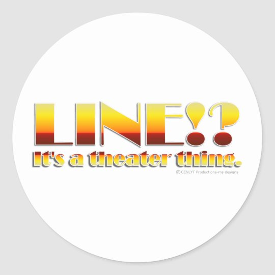 Line!? (Text Only) Round Sticker