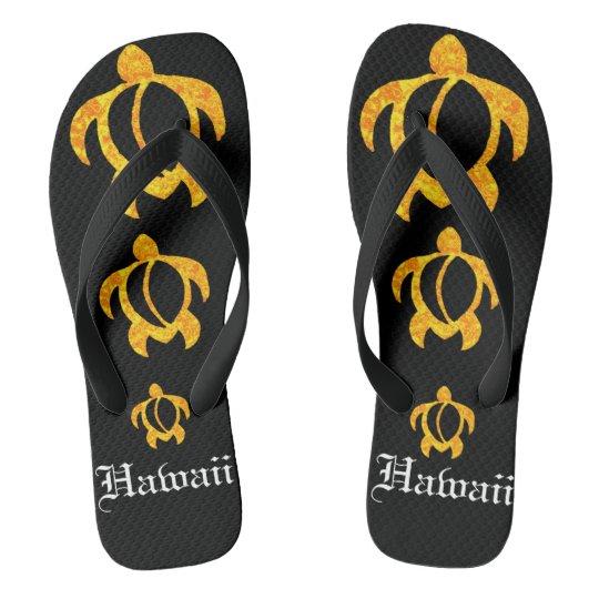 LineA Golden Lava Honu Hawaii Flip Flops