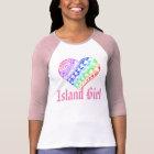 LineA Island Girl Rainbow Polynesian Heart Tattoo T-Shirt