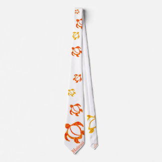 LineA Orange Hawaii Abstract Honu Tie