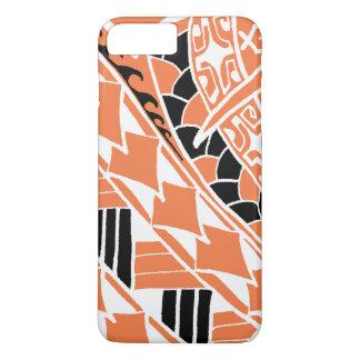 LineA Orange Polynesian Tattoo iPhone 8 Plus/7 Plus Case