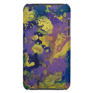 LineA Purple Paint Swirls II Barely There iPod Case