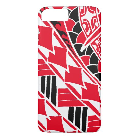 LineA Red Polynesian Tattoo iPhone 8 Plus/7 Plus Case