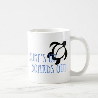 LineA Surf's Up Boards Out Coffee Mug