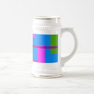 Linear Beauty Azure Coffee Mugs