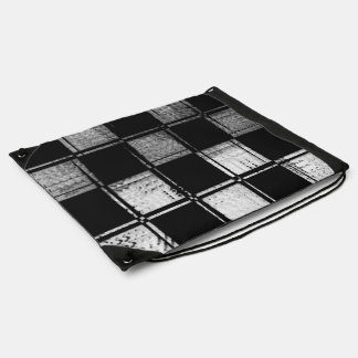 Linear Checkered Flag Drawstring Backpack