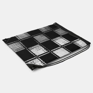 Linear Checkered Flag Drawstring Backpack