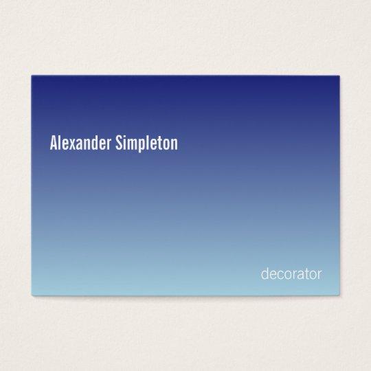 Linear Gradient Sky CCFFFF-000066 Business Card