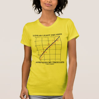 Linear Least Squares Dominates My Thoughts T-Shirt