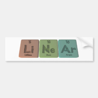 Linear-Li-Ne-Ar-Lithium-Neon-Argon.png Bumper Sticker