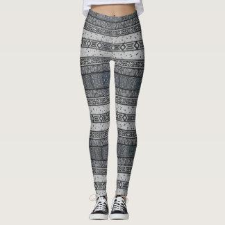 Linear Patterned Stripes Leggings