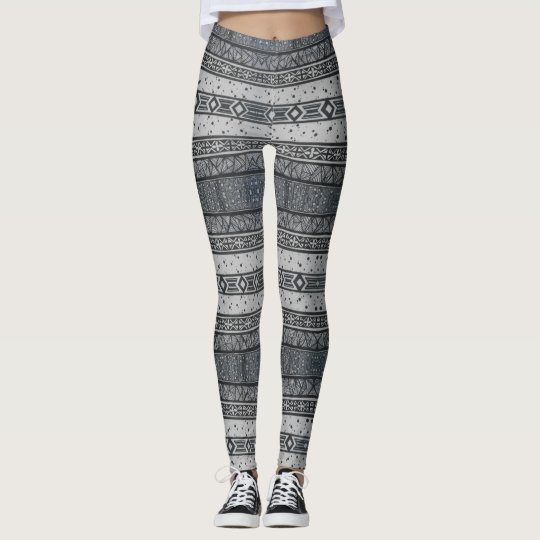 Linear Patterned Stripes Leggings