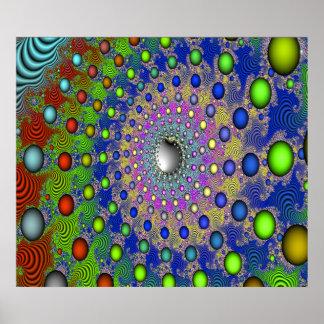 Linear vortex print