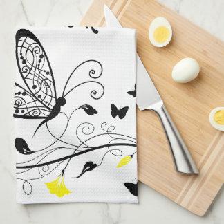 Lineart Butterflies  American MoJo Kitchen towel