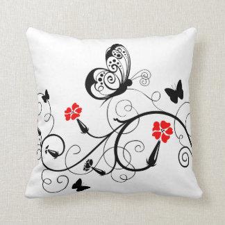 Lineart Butterflies American MoJo Throw Pillows