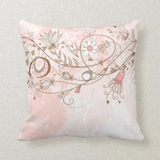 Lineart Flower Vines American MoJo Pill Pillows
