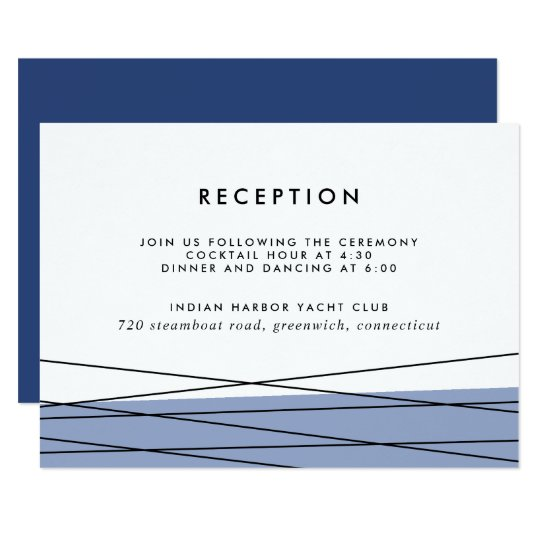 Lineation Reception Insert Card | Steel Blue