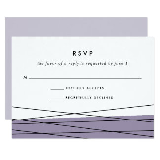 Lineation RSVP Card | Gray Lilac
