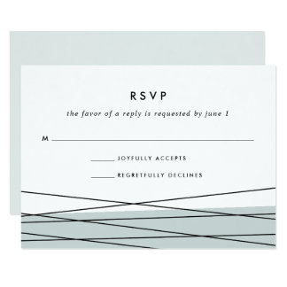 Lineation RSVP Card | Grayed Jade