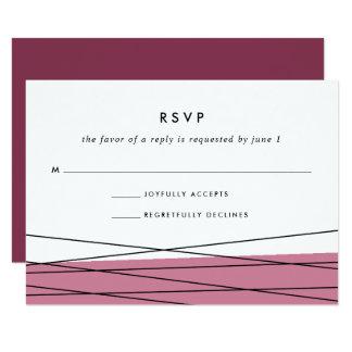 Lineation RSVP Card | Marsala