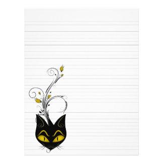 """Lined Binder Paper 8.5""""x11"""" Black Cat Solid Black 21.5 Cm X 28 Cm Flyer"""
