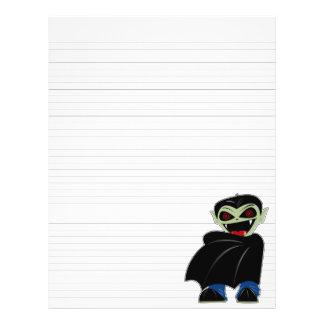 Lined Binder Paper Dracula Halloween Solid Black 21.5 Cm X 28 Cm Flyer