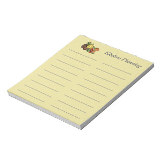 Lined Kitchen Planner Template Notepad soft yellow