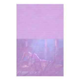 Lined Mermaid Stationery in Purple