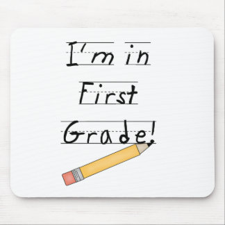 Lined Paper and Pencil First Grade Mouse Mat