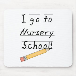 Lined Paper and Pencil Nursery School Mouse Pad