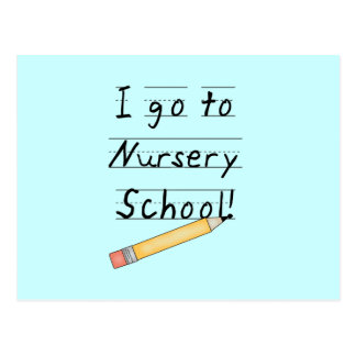Lined Paper and Pencil Nursery School Postcard