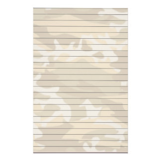 Lined Paper With Desert Camo Stationery Design