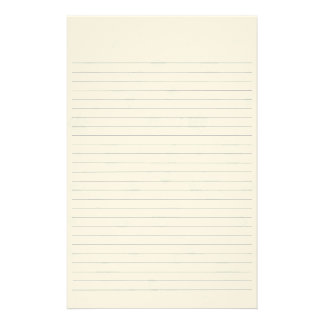 Lined Paper With Leaves