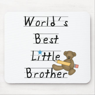 Lined Paper World's Best Little Brother Mouse Pad