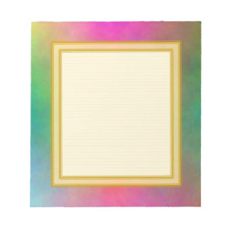 Lined Pink Sunrise Small Note Pad Memo Notepad