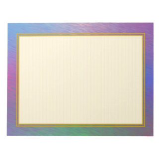 "Lined ""Plasma Rain Clouds"" Note Pads"