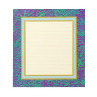 Lined Purple Teal Small Note Pad Notepads