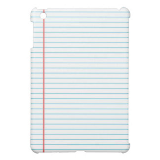 Lined School Notebook Paper Background for Teacher iPad Mini Cover