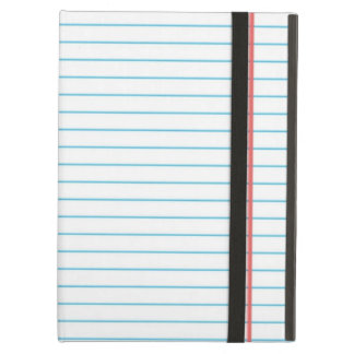 Lined School Notebook Paper for Teachers Students Case For iPad Air