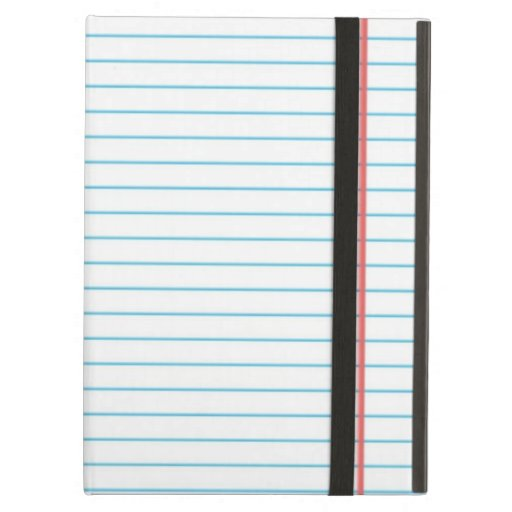 Lined School Notebook Paper for Teachers Students iPad Cases