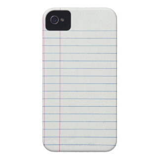Lined School Paper Background Case-Mate iPhone 4 Cases