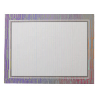 Lined Silver 8.5x11 Note Pad