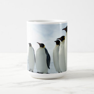 Lined up Emperor Penguins Basic White Mug