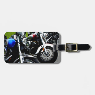Lined Up Luggage Tag