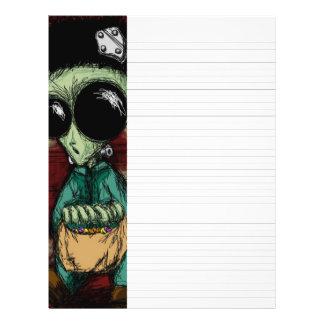 Lined Writing Paper Alien Frankenstein Solid Black 21.5 Cm X 28 Cm Flyer