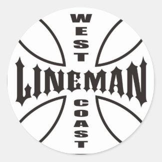 Lineman Classic Round Sticker