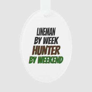 Lineman Hunter Ornament